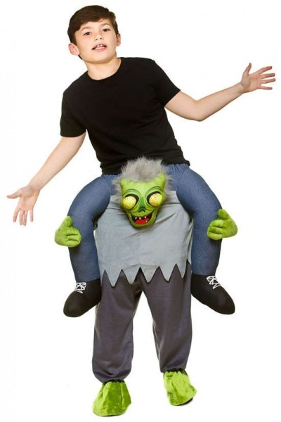 Monster piggyback costume for children