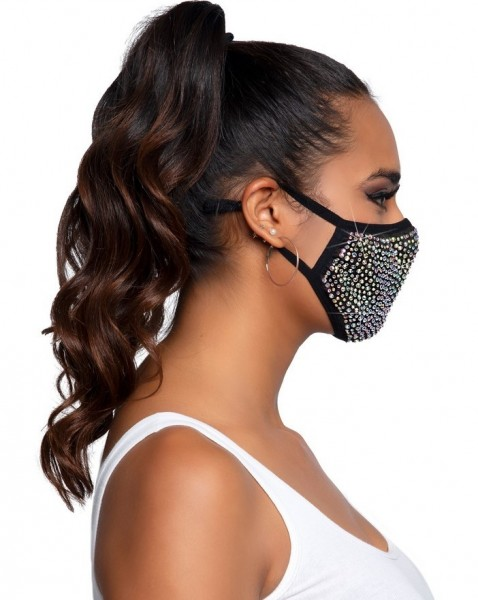 Charm masque bouche et nez avec strass