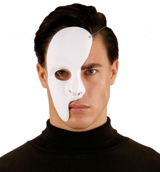 Halbmaske Phantom Weiß