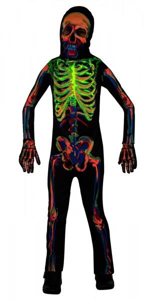 Leuchtendes Kinder Skelett Kostüm