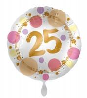 25. Geburtstag Ballon Happy Dots 45cm