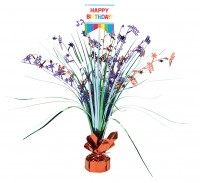 Happy Birthday Tischfontäne Rainbow Party 45,7cm