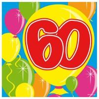 20 Spectacular 60th Birthday Servietten 25cm