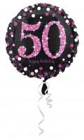Pink 50th Birthday Folienballon 43cm