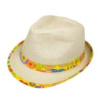 Schlager Sommer Hut in Bast-Optik