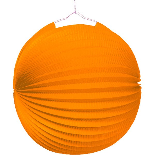Garden party papier lampion orange 25cm