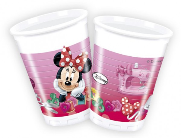8 vasos de plástico Minnie Sweet 200ml