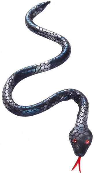 Biegsame silberfarbene Schlange 80cm