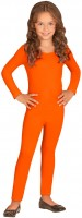 Oranje kinderbody met lange mouwen