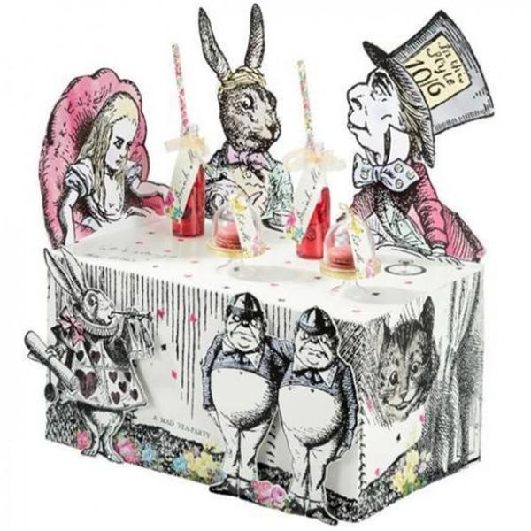 Alice im Wunderland Teeparty Tischdeko 45 x 37cm