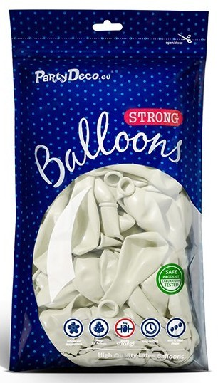 50 party star balloons white 23cm