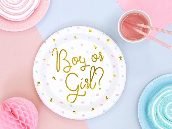 6 Boy or Girl paper plates 23cm