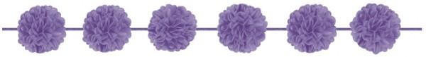 Purple pompom garland Napoli 3.65m