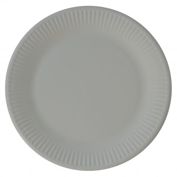 8 assiettes en papier éco Paganini gris 23cm