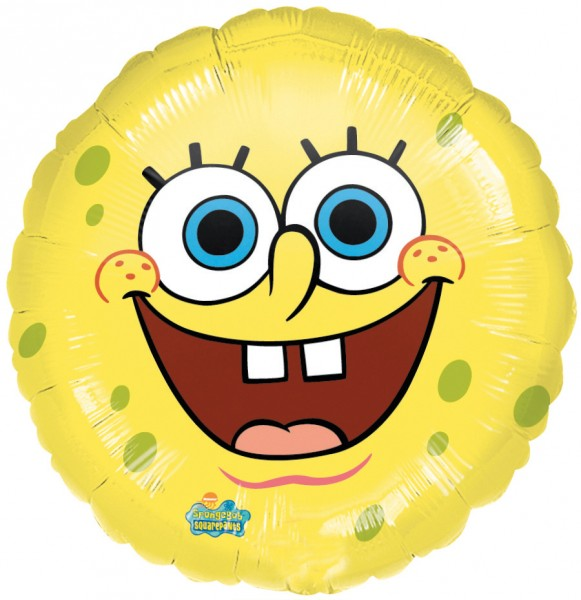 Round Happy Spongebob foil balloon