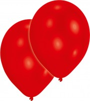 25er-Set Luftballon Rot Metallic 27,5cm