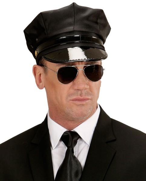 Schwarze Chauffeurs Mütze