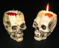 Kerze Totenkopf 7 x 10 x 10cm