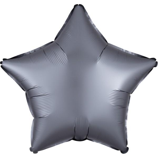 Satin Sternballon graphit 43cm