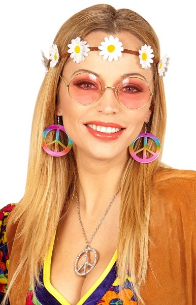 Set hippie 3 pezzi Flower Power