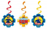 6 Feuerwehrmann Sam SOS Spiralhänger 60cm