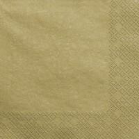20 Servietten Scarlett gold metallic 33cm