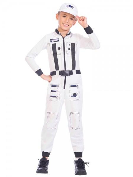 Weißer Astronauten Overall für Kinder