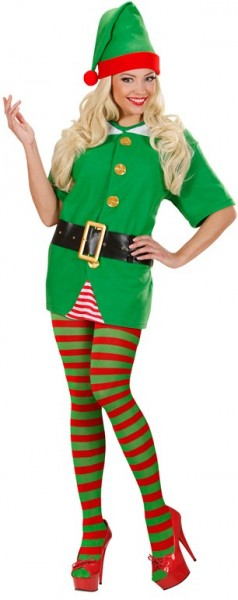 Christmas elf pantyhose red-green