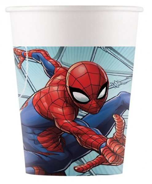 8 Spiderman Team Up cups 200ml