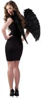 Ailes d'ange noir Miri 65 x 65cm