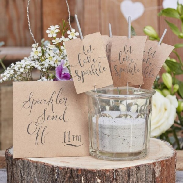 10 country love wedding sparklers