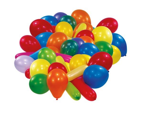 30 Luftballons verschiedene Formen Bunt