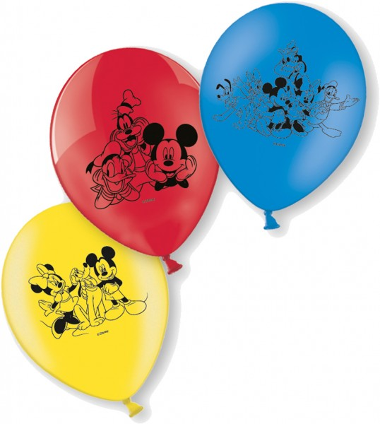 6 Mickey Mouse & Seine Freunde Luftballons 23cm