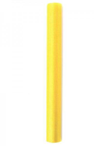 Tissu Organza Julie jaune 9m x 36cm