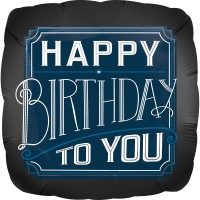 Edler Happy Birthday Folienballon 71cm