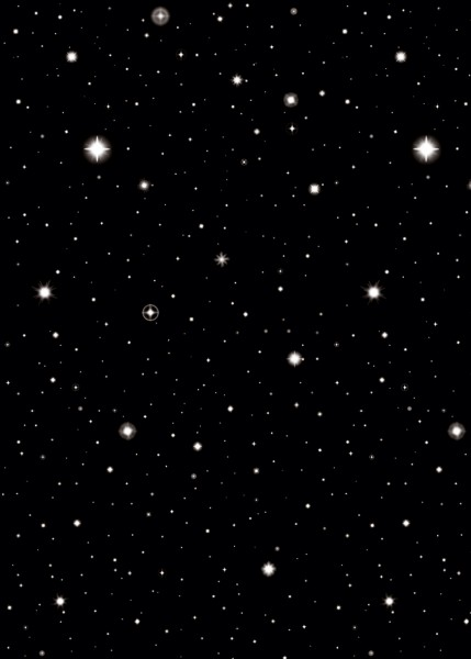 Romantischer Sternenhimmel Wandkulisse 1,2 X 12,2m
