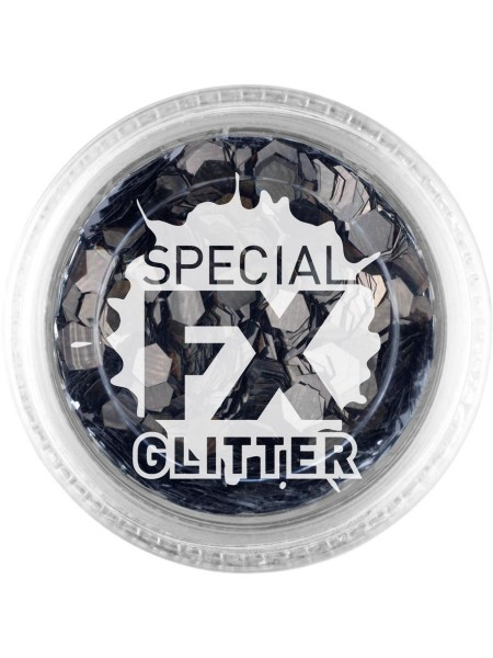 FX Special Glitter Hexagon negro 2g