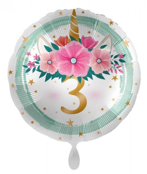 3ème anniversaire ballon boho licorne 71cm