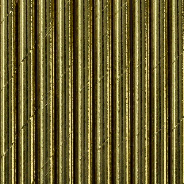 10 gold metallic paper straws 19.5cm