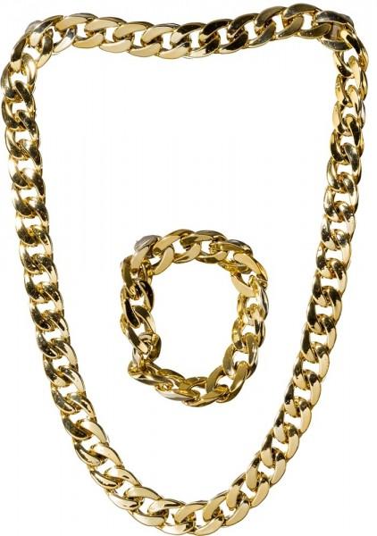 80er Jahre Goldkette und Armband