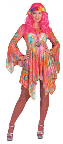 Psychedelic hippie ladies costume