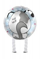 Ballon aluminium Airwalker chien mignon 43cm