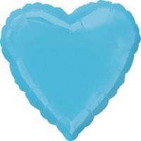 Ballon coeur bleu caraïbe 43cm