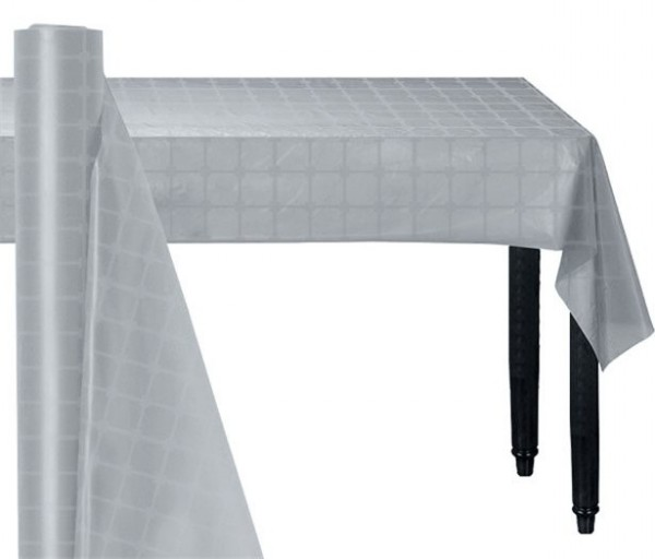 Silberne Papier Tischrolle 8 x 1,2m