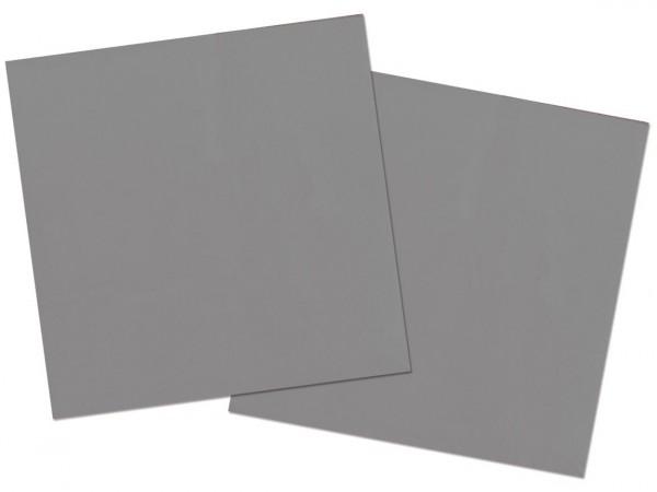 20 servilletas Cleo plateadas 33 x 33cm