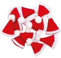 12 Mini Weihnachtsmützen
