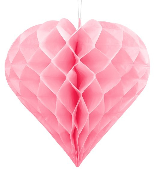 Diamond honeycomb ball light pink 30cm