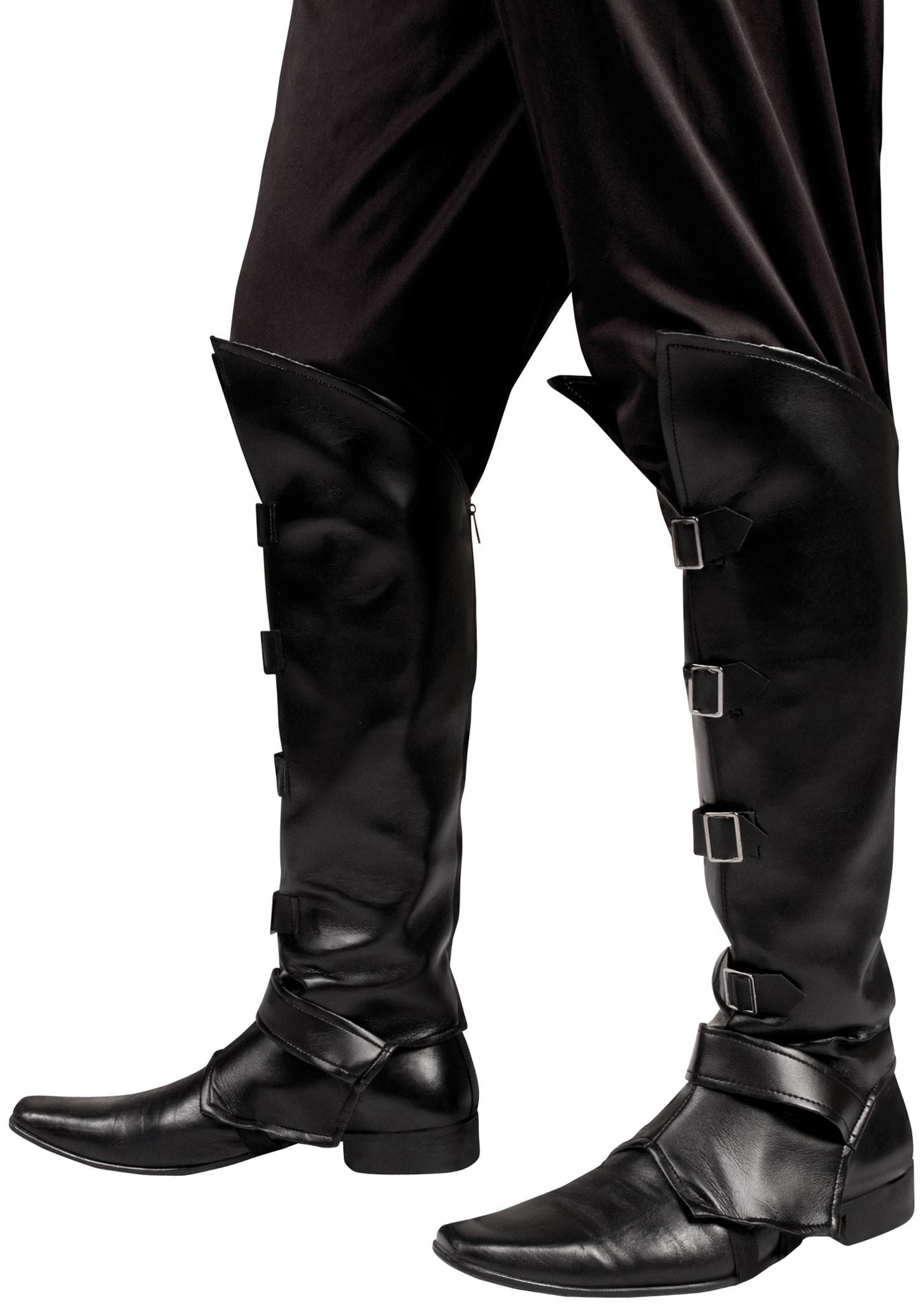 Zwarte bootwheels lederen look