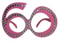 Partybrille Diamond 60 rosa