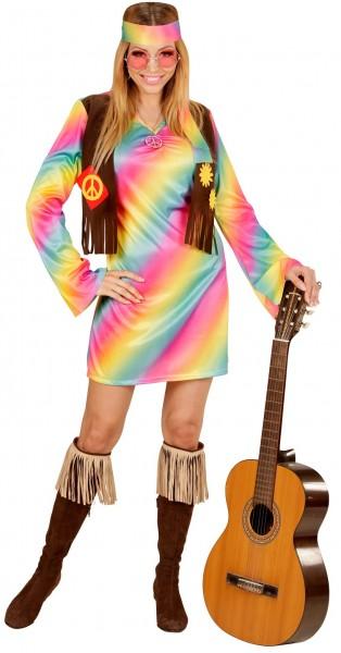 Regenbogen Hippiemädchen Kostüm